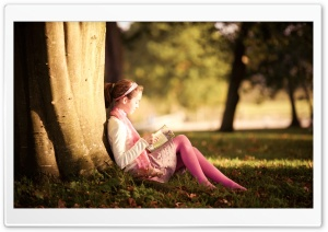 Reading Mood HD Wide Wallpaper for Widescreen