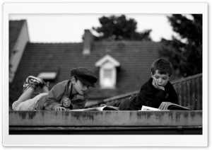 Reading On The Roof HD Wide Wallpaper for Widescreen