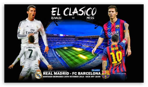 REAL MADRID - FC BARCELONA ❤ 4K UHD Wallpaper for 4K UHD 16:9 Ultra High Definition 2160p 1440p 1080p 900p 720p ; Mobile 16:9 - 2160p 1440p 1080p 900p 720p ;