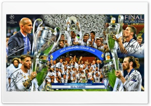 REAL MADRID CHAMPIONS LEAGUE WINNERS 2016 HD Wide Wallpaper for Widescreen