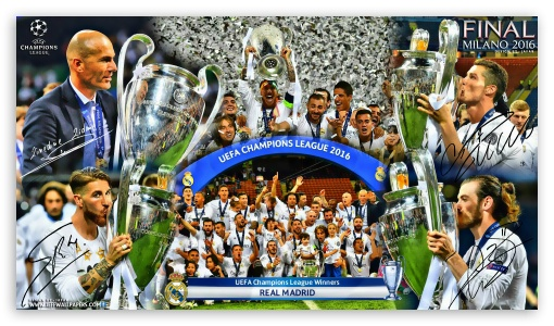 REAL MADRID CHAMPIONS LEAGUE WINNERS 2016 ❤ 4K UHD Wallpaper for 4K UHD 16:9 Ultra High Definition 2160p 1440p 1080p 900p 720p ; Mobile 16:9 - 2160p 1440p 1080p 900p 720p ;