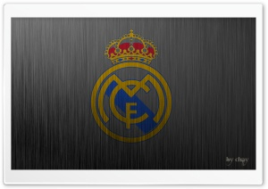 Real Madrid Metal Logo HD Wide Wallpaper for Widescreen