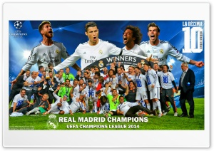 Real Madrid Winners Champions League 2014 Ultra HD Wallpaper for 4K UHD Widescreen desktop, tablet & smartphone