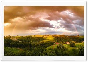 Real Rainbow 180 Degrees HD Wide Wallpaper for Widescreen