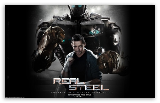 Real Steel Movie 2011 HD wallpaper for Wide 16:10 5:3 Widescreen WHXGA WQXGA WUXGA WXGA WGA ; Standard 4:3 3:2 Fullscreen UXGA XGA SVGA DVGA HVGA HQVGA devices ( Apple PowerBook G4 iPhone 4 3G 3GS iPod Touch ) ; iPad 1/2/Mini ; Mobile 4:3 5:3 3:2 - UXGA XGA SVGA WGA DVGA HVGA HQVGA devices ( Apple PowerBook G4 iPhone 4 3G 3GS iPod Touch ) ;
