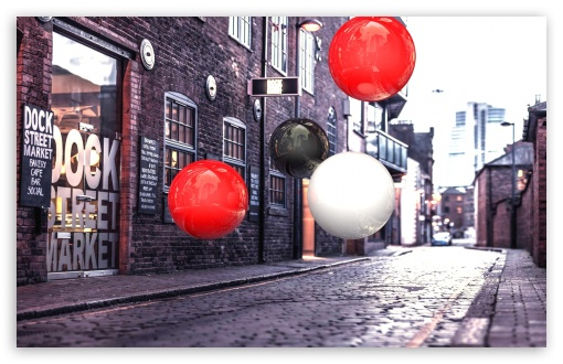 Realistic 3D Spheres On Street HD wallpaper for Wide 16:10 5:3 Widescreen WHXGA WQXGA WUXGA WXGA WGA ; HD 16:9 High Definition WQHD QWXGA 1080p 900p 720p QHD nHD ; Standard 4:3 5:4 3:2 Fullscreen UXGA XGA SVGA QSXGA SXGA DVGA HVGA HQVGA devices ( Apple PowerBook G4 iPhone 4 3G 3GS iPod Touch ) ; Tablet 1:1 ; iPad 1/2/Mini ; Mobile 4:3 5:3 3:2 16:9 5:4 - UXGA XGA SVGA WGA DVGA HVGA HQVGA devices ( Apple PowerBook G4 iPhone 4 3G 3GS iPod Touch ) WQHD QWXGA 1080p 900p 720p QHD nHD QSXGA SXGA ;