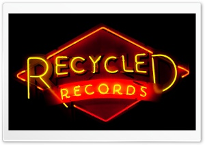 Recycled Records HD Wide Wallpaper for Widescreen
