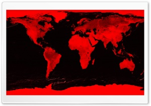 Red And Black Map HD Wide Wallpaper for Widescreen