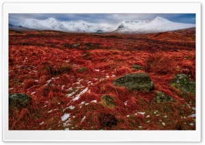 Red and White Mountain Landscape HD Wide Wallpaper for Widescreen
