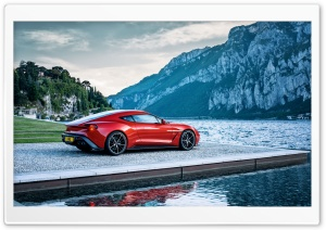 Red Aston Martin Sports Car HD Wide Wallpaper for Widescreen