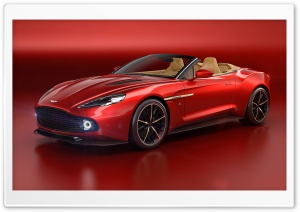 Red Aston Martin Vanquish HD Wide Wallpaper for Widescreen