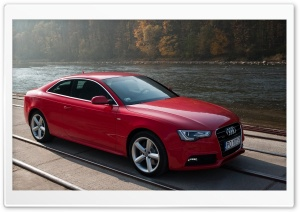 Red Audi HD Wide Wallpaper for Widescreen