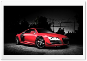 Red Audi R8 GT HD Wide Wallpaper for Widescreen