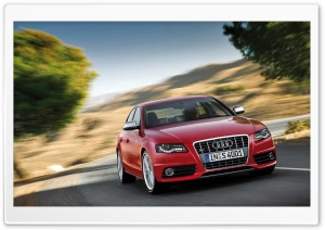 Red Audi S4 Sedan HD Wide Wallpaper for Widescreen