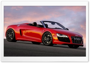 Red Audi Stasis HD Wide Wallpaper for Widescreen
