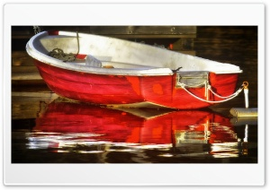 Red Boat HD Wide Wallpaper for Widescreen