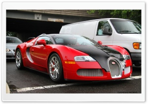 Red Bugatti Grand Sport HD Wide Wallpaper for Widescreen
