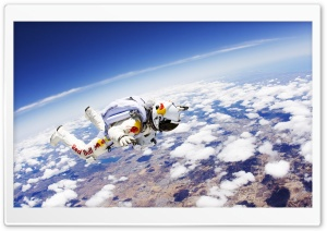 Red Bull Skydiver HD Wide Wallpaper for Widescreen