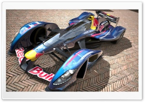 Red Bull X2010 Sebastian Vettel HD Wide Wallpaper for Widescreen