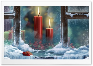 Red Candles HD Wide Wallpaper for Widescreen