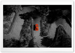 Red Car, Winding Road Ultra HD Wallpaper for 4K UHD Widescreen desktop, tablet & smartphone