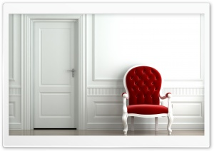 Red Chair HD Wide Wallpaper for Widescreen