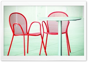 Red Chairs HD Wide Wallpaper for Widescreen