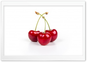 Red Cherries Fruits Aesthetic HD Wide Wallpaper for 4K UHD Widescreen desktop & smartphone