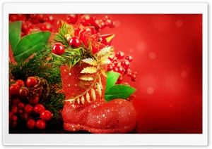 Red Christmas Ultra HD Wallpaper for 4K UHD Widescreen desktop, tablet & smartphone