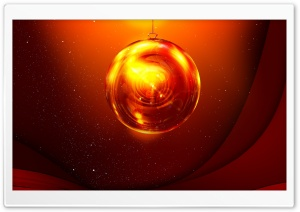 Red Christmas Ball HD Wide Wallpaper for Widescreen