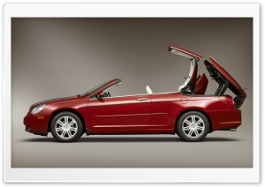 Red Chrysler Cabriolet HD Wide Wallpaper for Widescreen