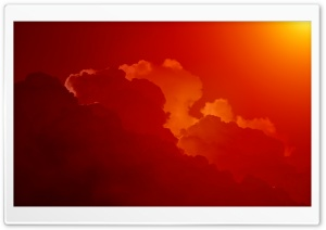 Red Clouds, Sunset HD Wide Wallpaper for Widescreen