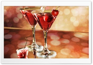 Red Cocktails HD Wide Wallpaper for Widescreen