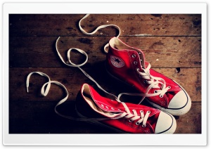 Red Converse Shoes HD Wide Wallpaper for Widescreen