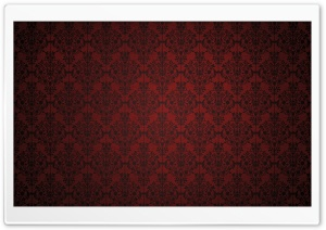 Red Damask HD Wide Wallpaper for Widescreen
