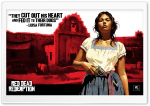 Red Dead Redemption, Luisa HD Wide Wallpaper for Widescreen