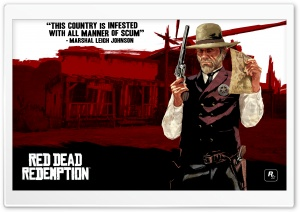 Red Dead Redemption, Marshal Leigh Johnson HD Wide Wallpaper for Widescreen