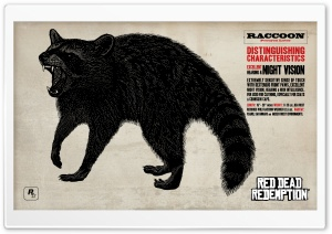 Red Dead Redemption Raccoon HD Wide Wallpaper for Widescreen