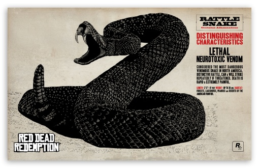 Red Dead Redemption Rattlesnake ❤ 4K UHD Wallpaper for Wide 16:10 5:3 Widescreen WHXGA WQXGA WUXGA WXGA WGA ; 4K UHD 16:9 Ultra High Definition 2160p 1440p 1080p 900p 720p ; Standard 4:3 5:4 3:2 Fullscreen UXGA XGA SVGA QSXGA SXGA DVGA HVGA HQVGA ( Apple PowerBook G4 iPhone 4 3G 3GS iPod Touch ) ; iPad 1/2/Mini ; Mobile 4:3 5:3 3:2 16:9 5:4 - UXGA XGA SVGA WGA DVGA HVGA HQVGA ( Apple PowerBook G4 iPhone 4 3G 3GS iPod Touch ) 2160p 1440p 1080p 900p 720p QSXGA SXGA ;