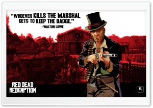 Red Dead Redemption, Walton Lowe HD Wide Wallpaper for Widescreen
