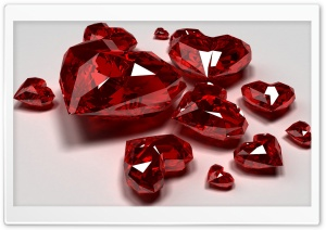 Red Diamond Hearts HD Wide Wallpaper for Widescreen