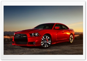 Red Dodge Charger SRT8 HD Wide Wallpaper for Widescreen