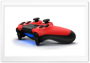 Red Dualshock 4 HD Wide Wallpaper for Widescreen