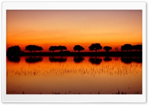 Red Dusk HD Wide Wallpaper for Widescreen