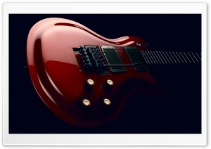 Red Electric Guitar Body HD Wide Wallpaper for 4K UHD Widescreen desktop & smartphone