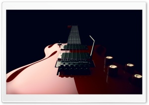 Red Electric Guitar Whammy Bar Vibrato Arm Ultra HD Wallpaper for 4K UHD Widescreen desktop, tablet & smartphone