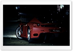 Red Ferrari HD Wide Wallpaper for Widescreen