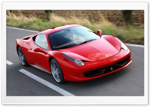 Red Ferrari 458 Italia HD Wide Wallpaper for Widescreen