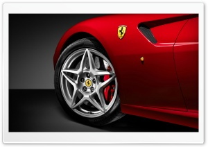 Red Ferrari 599 Wheel HD Wide Wallpaper for Widescreen