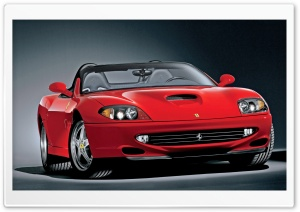 Red Ferrari Convertible HD Wide Wallpaper for Widescreen